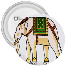 Elephant Indian Animal Design 3  Buttons