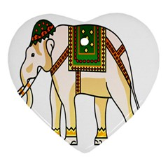 Elephant Indian Animal Design Ornament (heart)