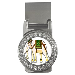 Elephant Indian Animal Design Money Clips (cz)