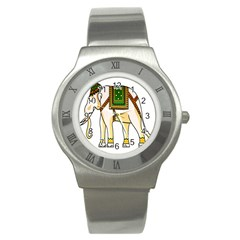 Elephant Indian Animal Design Stainless Steel Watch