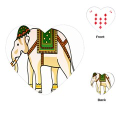 Elephant Indian Animal Design Playing Cards (heart)