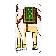 Elephant Indian Animal Design Apple Iphone 4/4s Seamless Case (black)