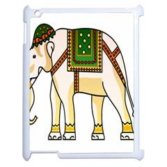 Elephant Indian Animal Design Apple Ipad 2 Case (white)