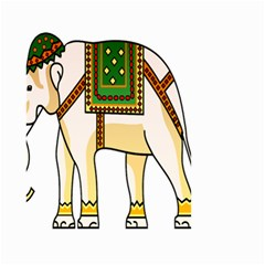 Elephant Indian Animal Design Small Garden Flag (two Sides)