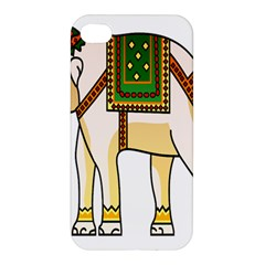 Elephant Indian Animal Design Apple Iphone 4/4s Premium Hardshell Case