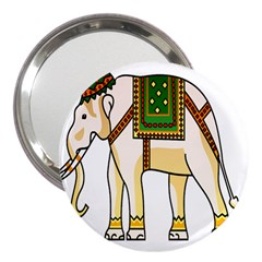 Elephant Indian Animal Design 3  Handbag Mirrors