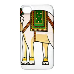Elephant Indian Animal Design Apple Iphone 4/4s Hardshell Case With Stand
