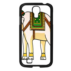 Elephant Indian Animal Design Samsung Galaxy S4 I9500/ I9505 Case (black)