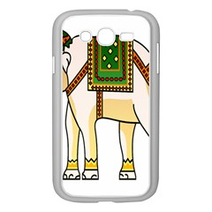 Elephant Indian Animal Design Samsung Galaxy Grand Duos I9082 Case (white)