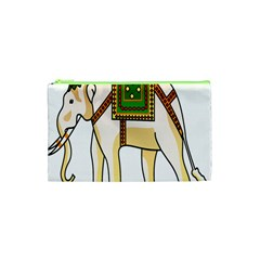Elephant Indian Animal Design Cosmetic Bag (xs)