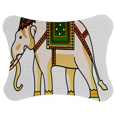 Elephant Indian Animal Design Jigsaw Puzzle Photo Stand (bow)