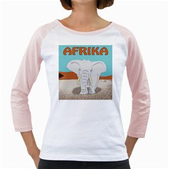 Africa Elephant Animals Animal Girly Raglans