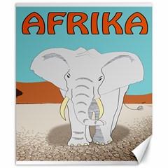 Africa Elephant Animals Animal Canvas 8  X 10