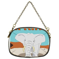 Africa Elephant Animals Animal Chain Purses (two Sides)
