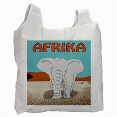 Africa Elephant Animals Animal Recycle Bag (two Side)