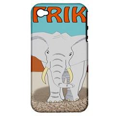 Africa Elephant Animals Animal Apple Iphone 4/4s Hardshell Case (pc+silicone)