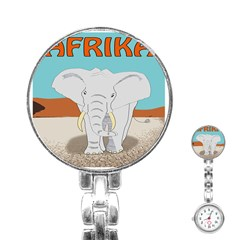 Africa Elephant Animals Animal Stainless Steel Nurses Watch