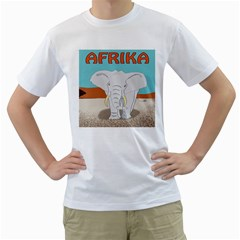 Africa Elephant Animals Animal Men s T Shirt (white)