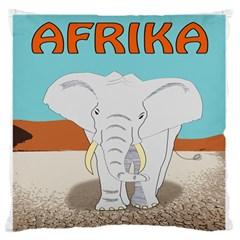 Africa Elephant Animals Animal Large Flano Cushion Case (one Side)