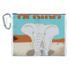 Africa Elephant Animals Animal Canvas Cosmetic Bag (xxl)