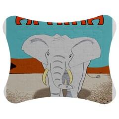 Africa Elephant Animals Animal Jigsaw Puzzle Photo Stand (bow)