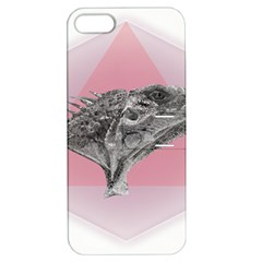 Lizard Hexagon Rosa Mandala Emblem Apple Iphone 5 Hardshell Case With Stand