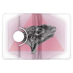 Lizard Hexagon Rosa Mandala Emblem Kindle Fire Hdx Flip 360 Case