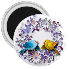 Flowers Floral Flowery Spring 3  Magnets