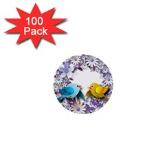 Flowers Floral Flowery Spring 1  Mini Buttons (100 Pack)