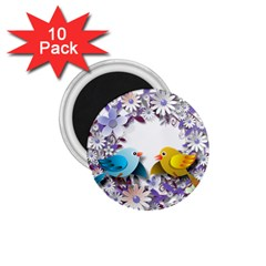 Flowers Floral Flowery Spring 1 75  Magnets (10 Pack)