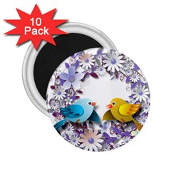 Flowers Floral Flowery Spring 2 25  Magnets (10 Pack)