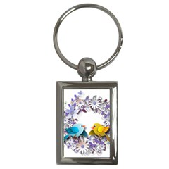 Flowers Floral Flowery Spring Key Chains (rectangle)
