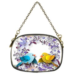 Flowers Floral Flowery Spring Chain Purses (two Sides)
