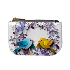Flowers Floral Flowery Spring Mini Coin Purses