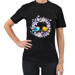 Flowers Floral Flowery Spring Women s T Shirt (black)