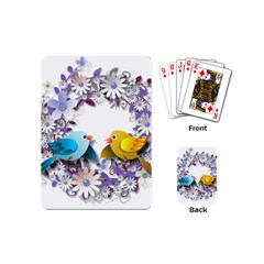Flowers Floral Flowery Spring Playing Cards (mini)