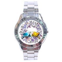 Flowers Floral Flowery Spring Stainless Steel Analogue Watch
