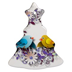 Flowers Floral Flowery Spring Ornament (christmas Tree)