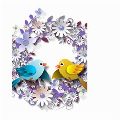 Flowers Floral Flowery Spring Small Garden Flag (two Sides)