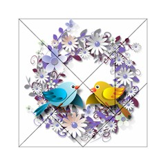 Flowers Floral Flowery Spring Acrylic Tangram Puzzle (6  X 6 )