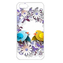 Flowers Floral Flowery Spring Apple Iphone 5 Seamless Case (white)