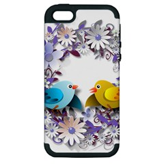 Flowers Floral Flowery Spring Apple Iphone 5 Hardshell Case (pc+silicone)
