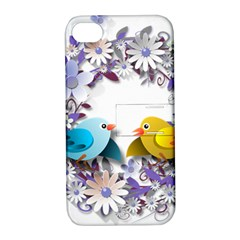 Flowers Floral Flowery Spring Apple Iphone 4/4s Hardshell Case With Stand