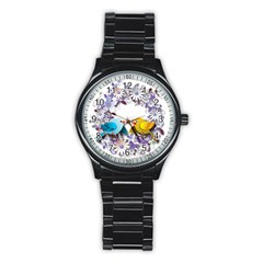 Flowers Floral Flowery Spring Stainless Steel Round Watch