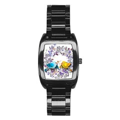 Flowers Floral Flowery Spring Stainless Steel Barrel Watch