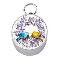 Flowers Floral Flowery Spring Mini Silver Compasses