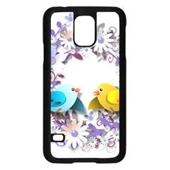 Flowers Floral Flowery Spring Samsung Galaxy S5 Case (black)