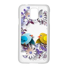 Flowers Floral Flowery Spring Samsung Galaxy S5 Case (white)
