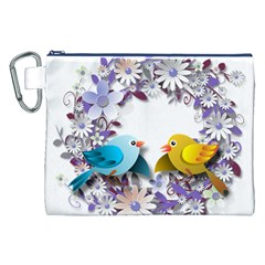 Flowers Floral Flowery Spring Canvas Cosmetic Bag (xxl)