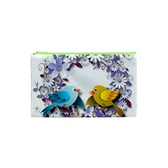 Flowers Floral Flowery Spring Cosmetic Bag (xs)